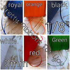 "Solid 1/8"" 3mm grosgrain ribbon the listing is for 30 yards..5 yards each color"