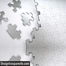 Specchio puzzle 60x40 cm moderno da parete in plexiglass - Designtrasparente_