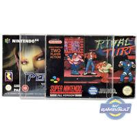 N64 SNES Box Protectors for Nintendo 64 Game 0.4mm Plastic Display Case 10 Pack