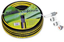 """Gartenschlauch 1/2"""" 50m gelb-schwarz + Zubehör Wasserschlauch Set"""