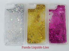 Funda Carcasa TPU borde con glitter purpurina liquido para Huawei P8,P9,P10 Lite