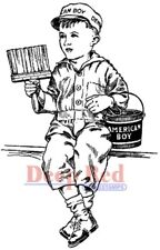 Deep Red Stamps American Boy Rubber Cling Stamp