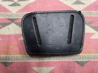Leather Belt Slide Holster  Small Semi Auto Black Ambi