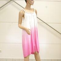 LYKKELIG Kleid Gr. 40 Farbverlauf Viskose weiß pink Conleys