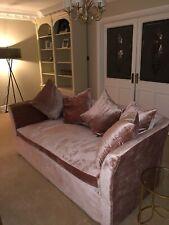 2x Barker And Stonehouse Sofa Velvet Pink