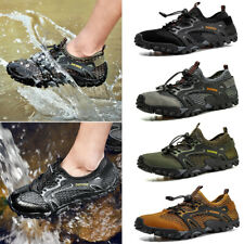 New Men's Outdoor Hiking Climbing Elastic Sneakers Casual Breathable Mesh Shoes