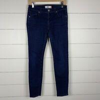 Cabi Womens Blue Denim Dark Wash Size 2 Zipper Fly 5 Pocket Skinny Jeans