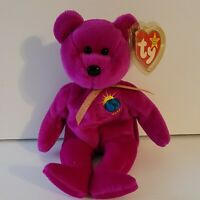 Ty Beanie Baby January 1999 Millennium Bear. Includes swing tag cover