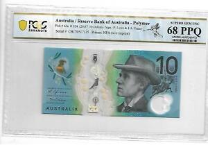 2017 Australia Reserve 10 Dollars Pick#63a PCGS 68 PPQ Gem UNC