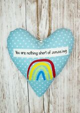 You Are Amazing Heart Gift, Keyworker Gift, Thank You Teacher, Rainbow Present