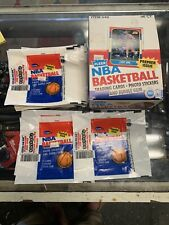 1986-87 Fleer Basketball Wax Pack Trading Card NBA Wrapper (28) JORDAN & Box