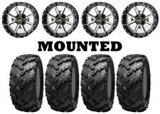 Kit 4 Interco Reptile Tires 27x9-12/27x11-12 on Frontline 556 Machined IRS