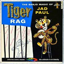 Jad Paul Tiger Rag The Banjo Magic of 1st DJ White Label LP NM Vinyl Mono NICE