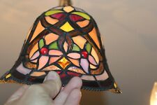 Vintage Slag Glass Lamp Shade Multi Color Flowers #1 Slag Shade