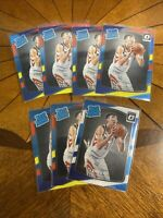 2017-18 Zhou Qi Rookie Lot 7. Rated Rookie RC Optic Red / yellow & Base. Rockets