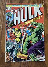 THE INCREDIBLE HULK #181 1st App Of Wolverine - 4.0 Grade 1974 + 140 Hulk Comics