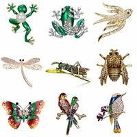 Lovely Cartoon Frog Bird Animal Brooch Pin Cosage Women Jewelry Party Gift New