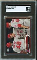 2012 Topps Chrome #144 Mike Trout SGC 8 NM-MT ~1st Chrome~(COMP TO PSA)