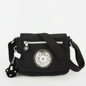 KIPLING SABIAN Nylon Travel Mini Shoulder Crossbody Bag Black GPL