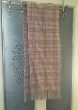 BURBERRY SCARF 100% LAMBSWOOL FOR MEN AND WOMEN MADE IN ENGLAND PINK . See Photo
