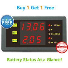 Solar Battery Monitor DC 120V 30A Voltmeter Ammeter Voltage Current AMP Meter