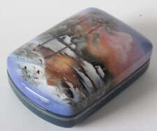 Russian Art Fedoskino Lacquer Miniature Box F200