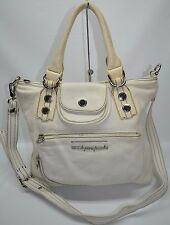 Marc By Marc Jacobs White Pebbled Leather Pocket Slim Convertible Tote Bag