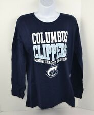 Minor League Baseball Columbus Clippers Women's Soft L/S T-Shirt, Navy Small NEW