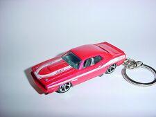NEW 3D PINK PLYMOUTH BARACUDA KEYCHAIN chain keyring HEMI mopar RACE 440