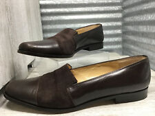Classiques Entier Brown Leather Loafer Cap Toe Women's Size 8 Made in Italy