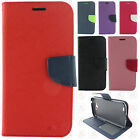 For AT&T LG X Venture Premium Leather 2 Tone Wallet Case Pouch Flip Phone Cover
