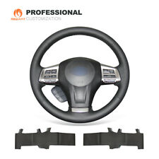 DIY Genuine Leather Steering Wheel Cover for Subaru Forester Outback Legacy XV
