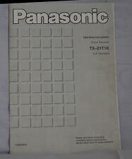 Panasonic TX-21T1K Colour TV Instruction Manual