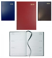 A4 / A5 Week To View 2020 Diary Hard Back Desk Office Week Across Two Pages VOW