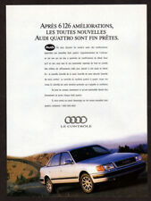 1992 AUDI Quattro Vintage Original Print AD - Gray sedan car photo French Canada