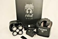 PITBULL SHAVER GOLD WITH PLATINUM RINSE STAND STILL IN THE BOX