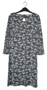 NEW EX WHITE STUFF UK Size 8 LADIES WOMENS LIGHT GREY MAUVE JERSEY TUNIC DRESS