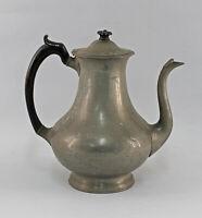 8433017 Antike Kaffeekanne Britanniametall Zinnlegierung Biedermeier-Stil