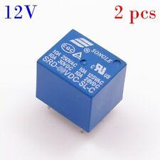 2pcs PCB Relay 12V 10A Songle Miniature SPDT CQC UL