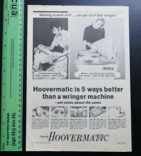 1963 old vintage ad HOOVERMATIC Twin Tub Washing Machine Washer advertising