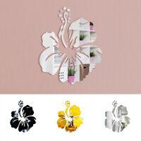 Wall Sticker Mirror Decal Flower DIY Home Room Art Mural Decoration Removable