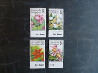 1990 GRENADA GRENADINES ORCHIDS SET 4 MINT STAMPS MNH