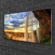 Glasbilder 100x50 Wandbild Druck auf Glas Wasserfall Landschaft