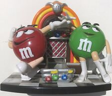 Vintage M&M Rock and Roll M & M Juke Box Dispenser Red Green Candy Mars