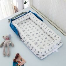 Baby Crib Sleeping Bed Nest Soft Cotton Basket Travel Daily Nursing Bed + Pillow