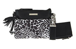 Samantha Brown To Go INSULATED LUNCH Tote Bag ~ Black/White Animal Print