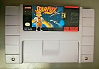 Star Fox Super Nintendo SNES Space Action Pilot Sim Game Authentic Cartridge