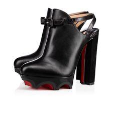 977065fcc281 NIB Christian Louboutin Forgeron 140 Black Platform Strap Pump Heel Bootie  40.5