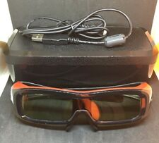Panasonic 3D Glasses TY-EW3D2S Full HD Viera TV + Case + Cable | Red