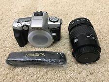 Minolta Maxxum 5 SLR 35mm Film Camera w/ AF 28-70mm Lens + UV & PL-CLR filters